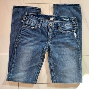 Silver Jeans Toni lightly distressed bootcut 30x35